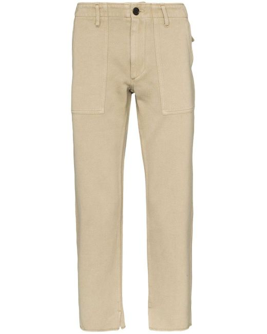 Visvim Natural Cropped Trousers for men