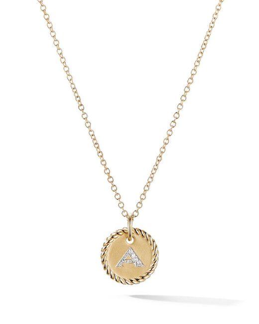 David Yurman Cable Collectibles ダイヤモンド ネックレス 18kイエローゴールド Metallic