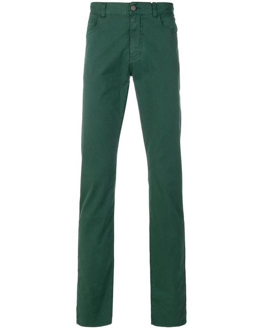 Websites Sale Online straight leg trousers - Green Canali View sSUaMkoaIS