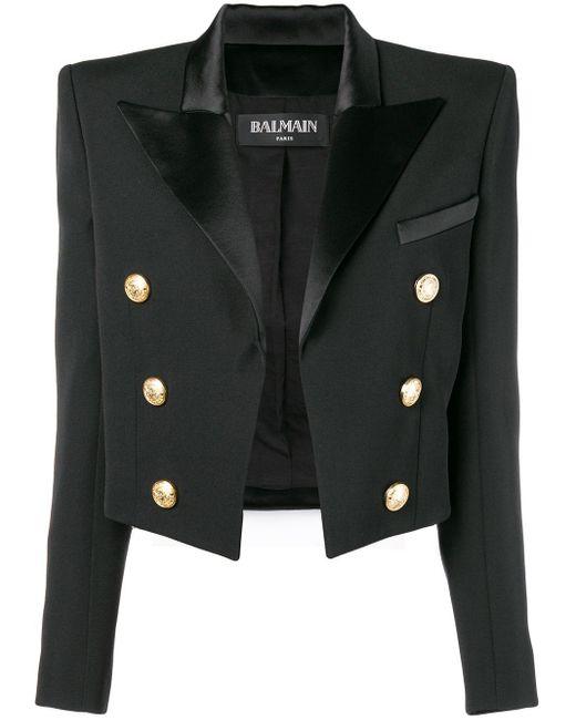 Balmain クロップドジャケット Black