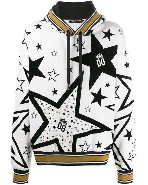 メンズ Dolce & Gabbana Millennial Stars パーカー White