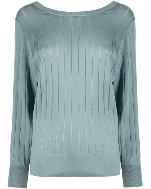 Agnona ファインニット リブセーター Multicolor