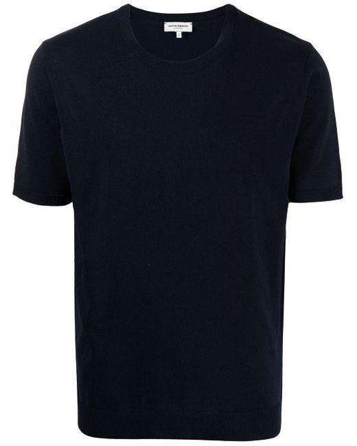 メンズ MAN ON THE BOON. ラウンドネック Tシャツ Blue