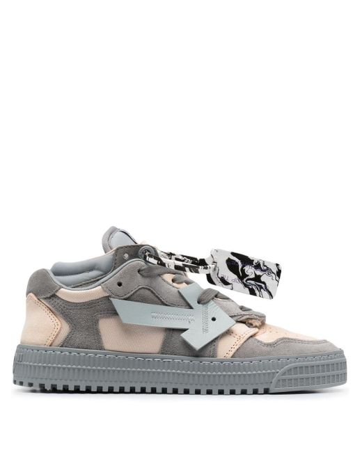 Off-White c/o Virgil Abloh Gray Floating Arrow Sneakers