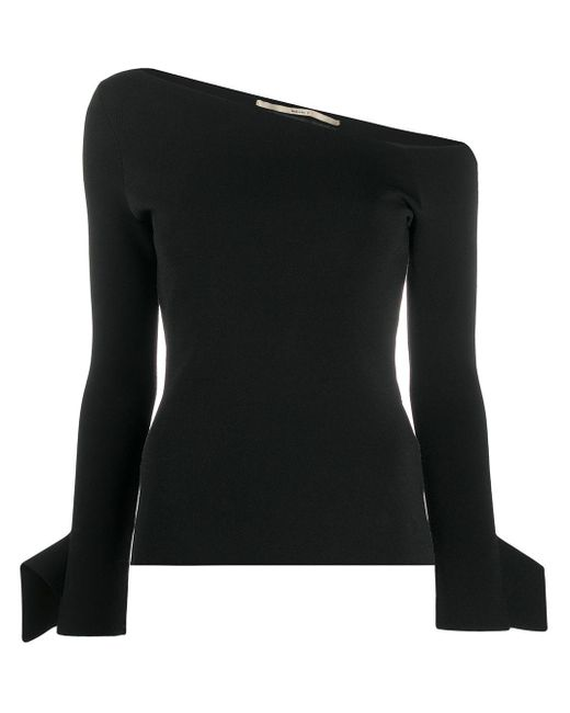 Roland Mouret Black Pula Birseye-stitch Top