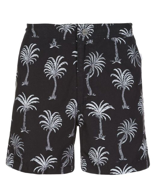 メンズ Onia African Palm トランクス水着 Black