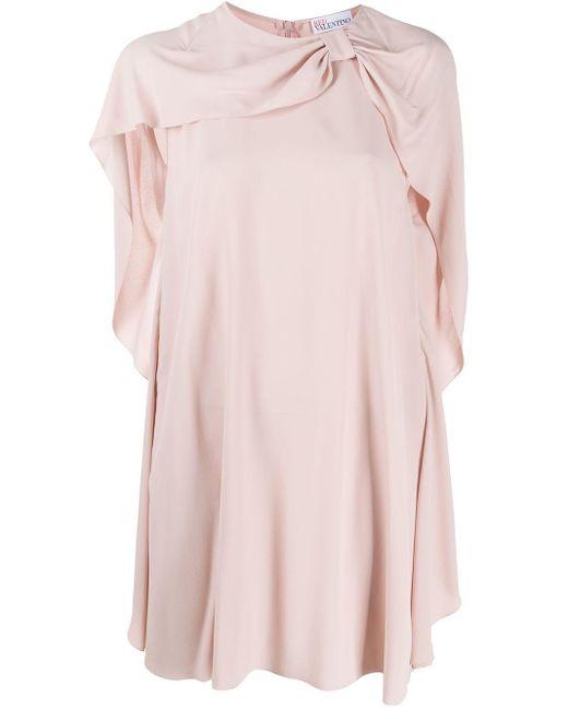RED Valentino リボン ドレープ ドレス Pink