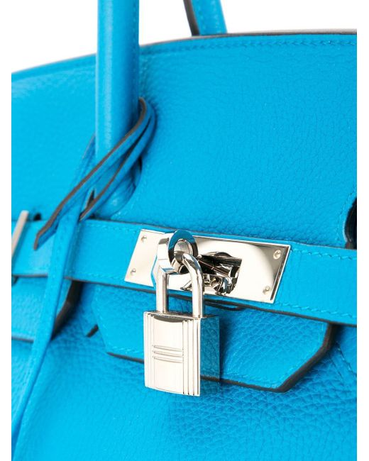 Hermès プレオウンドバーキン35 ハンドバッグ Blue