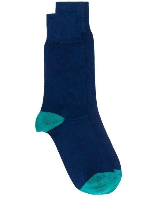 メンズ Paul Smith ロゴ靴下 Blue
