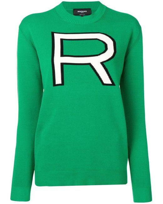 Rochas R セーター Green