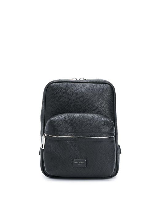 Dolce & Gabbana Black Small Palermo Backpack for men