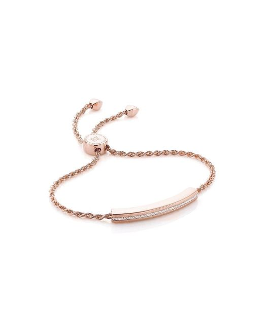Monica Vinader Metallic Linear Chain Diamond Bracelet