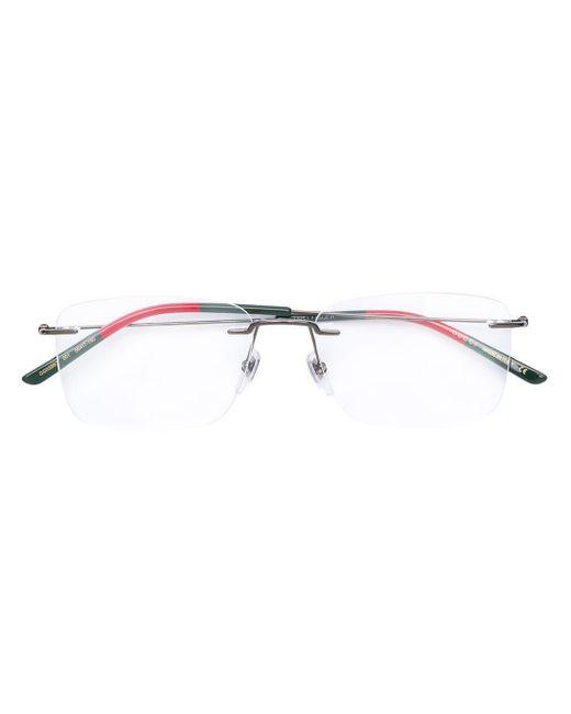 メンズ Gucci スクエア 眼鏡フレーム Multicolor