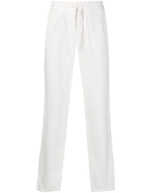 メンズ Z Zegna ドローストリング ストレートパンツ White
