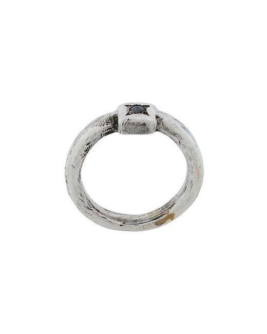 Henson - Metallic Anello Diamanti - Lyst