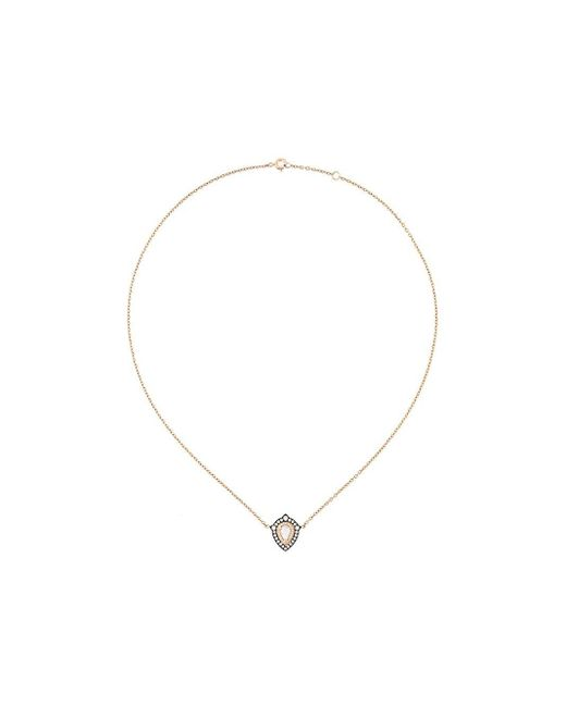 Monan ダイヤモンドペンダント ネックレス Metallic