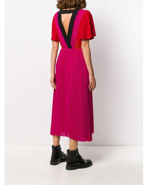Karl Lagerfeld Pink Kleid in Colour-Block-Optik