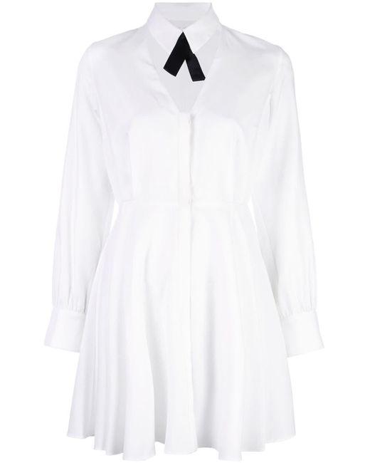 Fleur du Mal カットアウト シャツドレス White