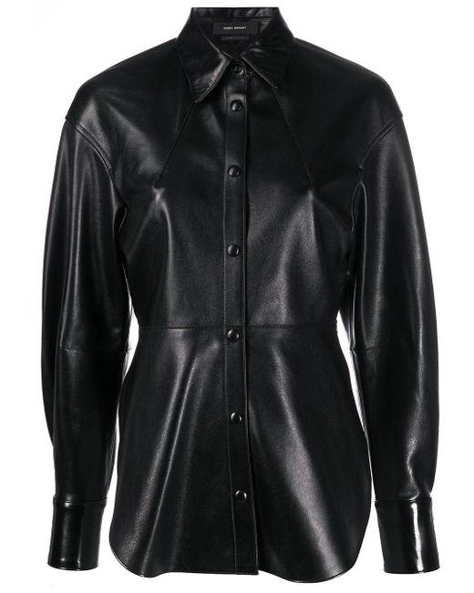 Isabel Marant レザーシャツ Black