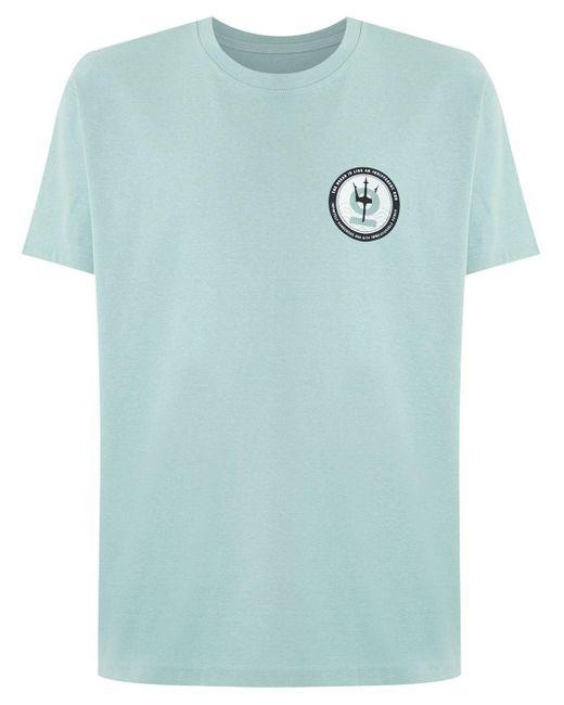 メンズ Osklen プリント Tシャツ Blue