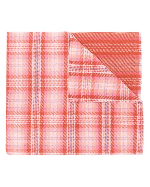 Acne Cassiar チェックスカーフ Red