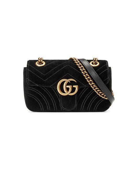 e136c73e91e Gucci GG Marmont Matelassé Mini Bag in Black - Save 11% - Lyst