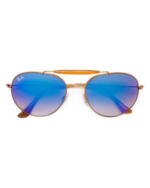 Ray-Ban - Blue Aviator Sunglasses - Lyst