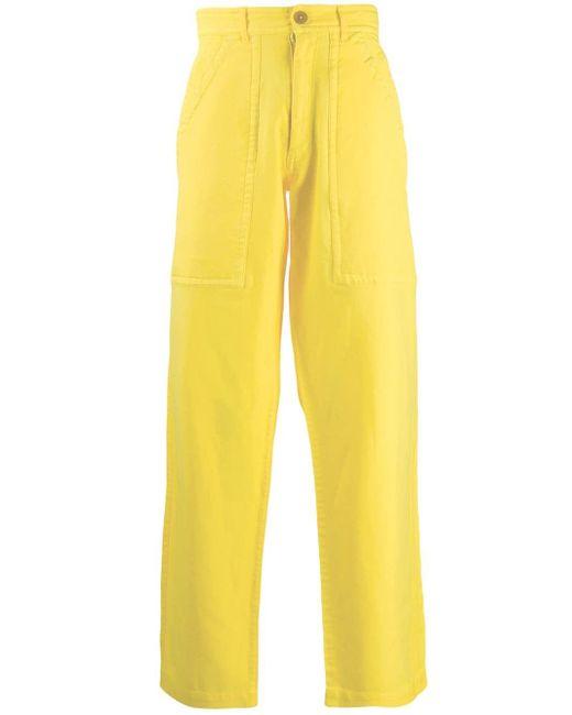 メンズ Comme des Garçons ワークパンツ Yellow
