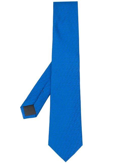 メンズ Fendi モノグラム ネクタイ Blue