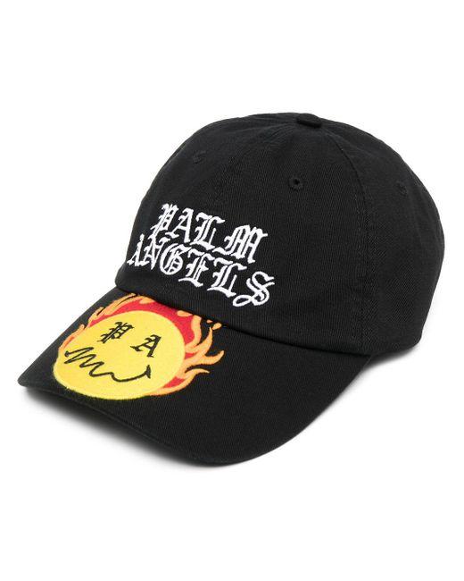 メンズ Palm Angels Burning Head キャップ Black