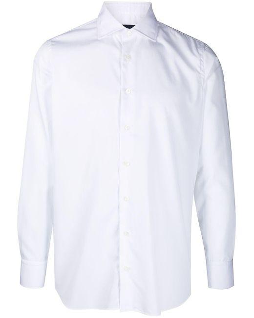 メンズ Lardini ロングスリーブ シャツ White