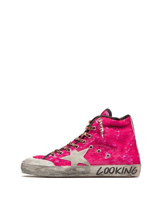 Высокие Кеды Francy Golden Goose Deluxe Brand, цвет: Pink