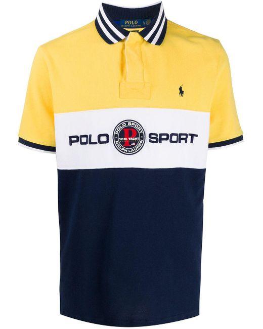 メンズ Polo Ralph Lauren ロゴ ポロシャツ Yellow