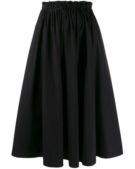 Юбка Миди Со Сборками На Поясе Marni, цвет: Black