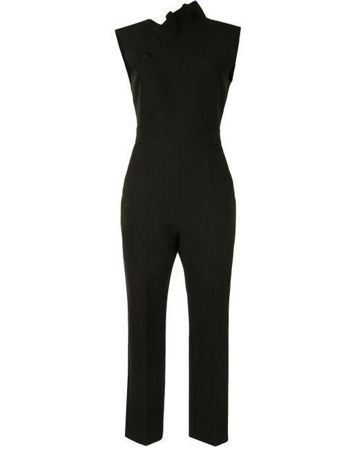 MSGM クロップド ジャンプスーツ Black
