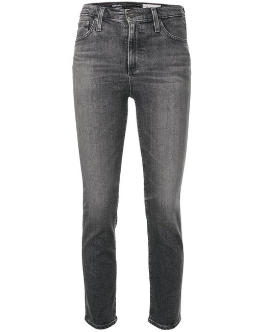 AG Jeans The Isabelle クロップドジーンズ Gray