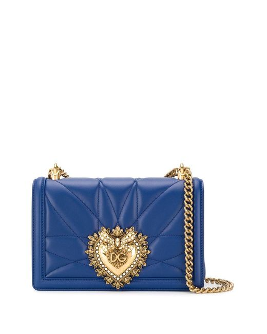 Dolce & Gabbana Blue Small Devotion Bag