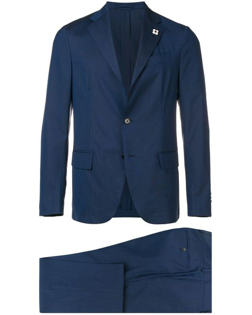 メンズ Lardini ツーピース スーツ Blue