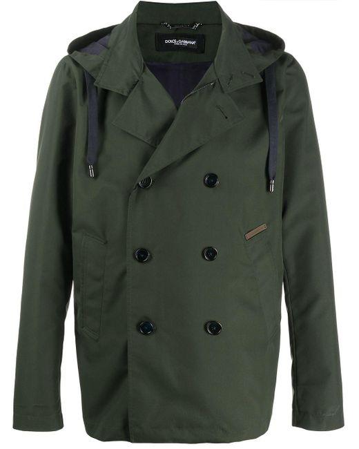 Двубортная Куртка С Капюшоном Dolce & Gabbana для него, цвет: Green