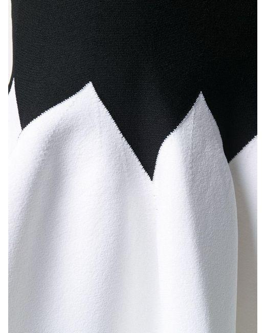 Двухцветная Юбка Со Складками Alexander McQueen, цвет: Black