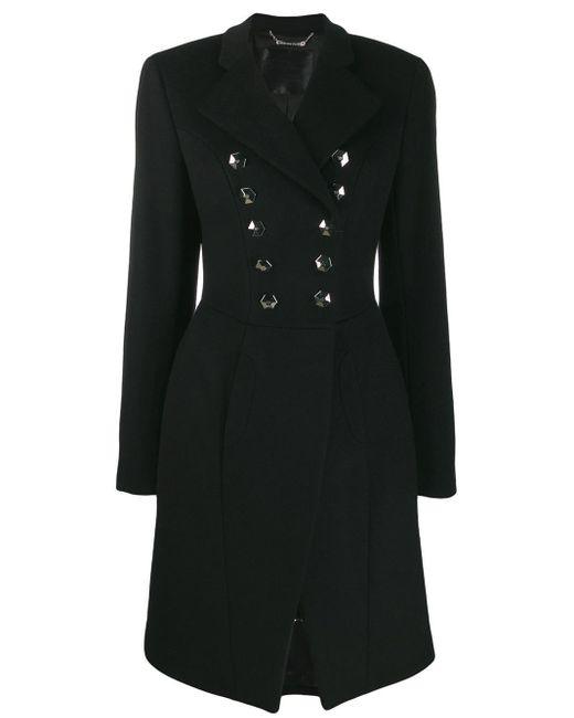 Двубортное Пальто Philipp Plein, цвет: Black