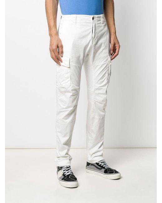 メンズ C P Company スキニー カーゴパンツ White