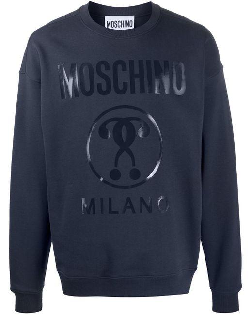 Толстовка С Логотипом Moschino для него, цвет: Blue