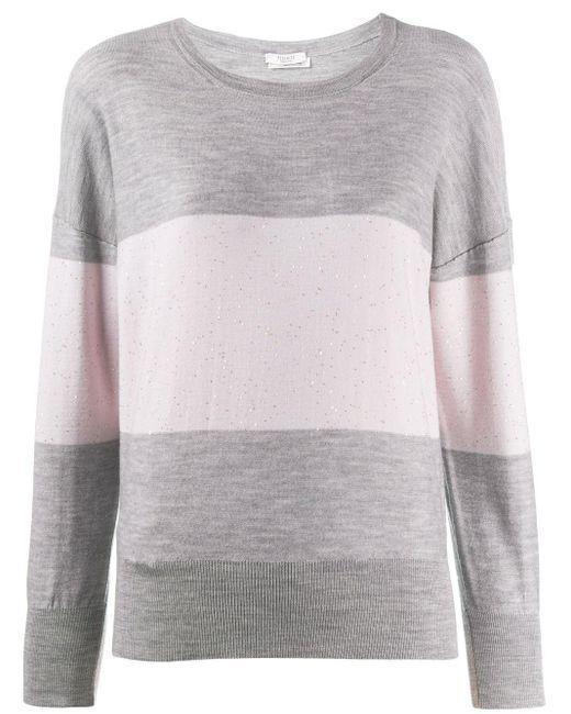 Peserico ストライプ セーター Gray