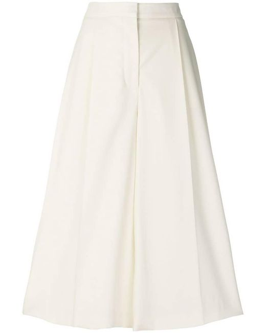 Stella McCartney - Multicolor Cropped Flared Trousers - Lyst