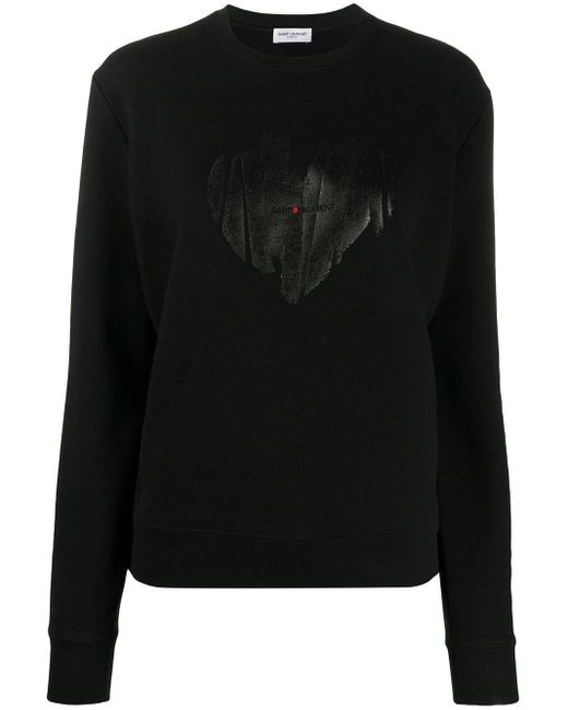 Saint Laurent Heart スウェットシャツ Black