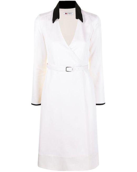 Ports 1961 ベルテッド ドレス White