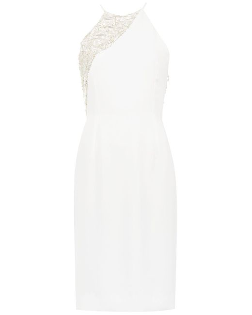 Embroidered Detail Dress Gloria Coelho, цвет: White