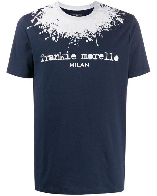メンズ Frankie Morello ロゴ Tシャツ Blue