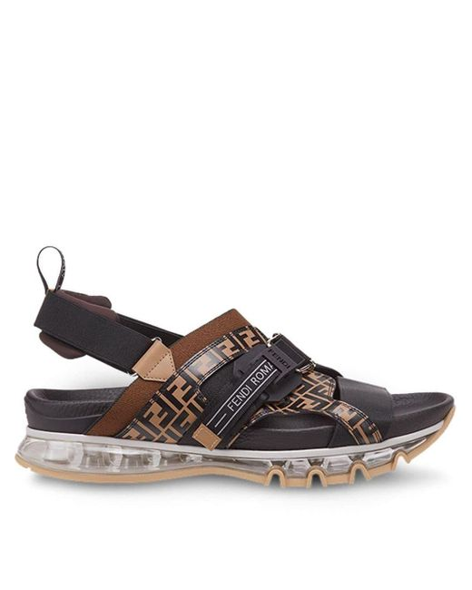 Fendi Sandalen mit FF-Schnalle in Black für Herren